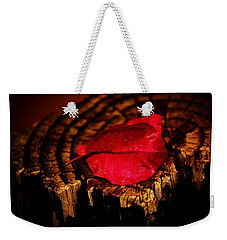 Weekender Tote Bag featuring the photograph Pink Petal by Jessica Shelton