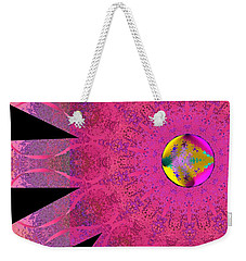 Pink Ribbon Of Hope Weekender Tote Bag by Alec Drake