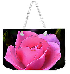 Weekender Tote Bag featuring the photograph Pink Rose Day by Clayton Bruster