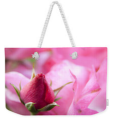 Pink Rose Weekender Tote Bag by Jeannette Hunt