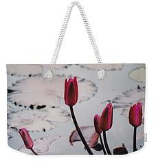 Pink Water Lily Buds Weekender Tote Bag