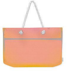 Pink Yellow And Grey Weekender Tote Bag