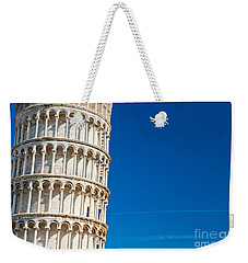 Weekender Tote Bag featuring the photograph Pisa Leaning Tower by Luciano Mortula