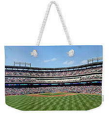 Globe Life Park, Home Of The Texas Rangers Weekender Tote Bag