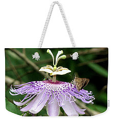 Weekender Tote Bag featuring the photograph Plenty For All by Donna Brown