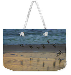 Plovers At Play On A Stormy Morning Weekender Tote Bag