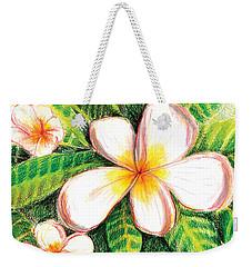 Plumeria With Foliage Weekender Tote Bag