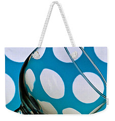 Weekender Tote Bag featuring the photograph Polka Dot Glass by Steve Purnell