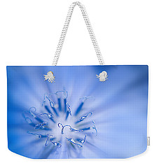 Weekender Tote Bag featuring the photograph Pollination  Blue Chicory by Randall Branham