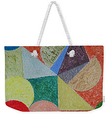 Weekender Tote Bag featuring the painting Polychrome by Sonali Gangane