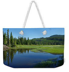 Pond Reflection Weekender Tote Bag