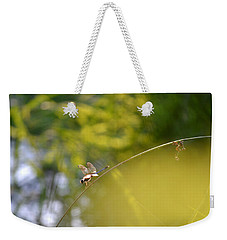 Weekender Tote Bag featuring the photograph Pond-side Perch by JD Grimes