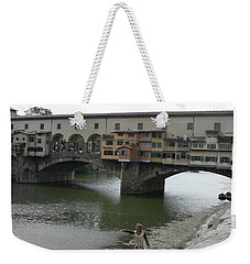 Weekender Tote Bag featuring the photograph Ponte Vecchio by Laurel Best