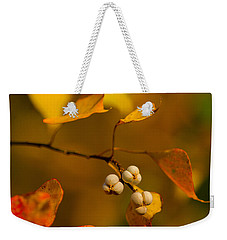 Weekender Tote Bag featuring the photograph Popcorn Tree by Dan Wells
