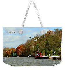 Weekender Tote Bag featuring the photograph Port Dover Harbour by Barbara McMahon