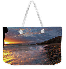 Weekender Tote Bag featuring the photograph Porth Swtan Cove by Beverly Cash