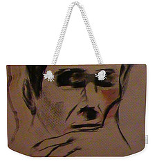 Weekender Tote Bag featuring the painting Portrait Of Frank Frazetta by George Pedro