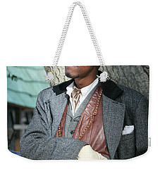 Portrait Of Kurupt Weekender Tote Bag by Nina Prommer