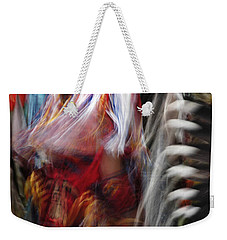 Weekender Tote Bag featuring the photograph Pow Wow Dancer by Vivian Christopher