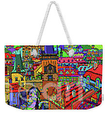 Prague Panorama With Charles Bridge Weekender Tote Bag
