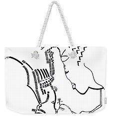 Weekender Tote Bag featuring the drawing Presentation Of Jesus In The Temple by Gloria Ssali