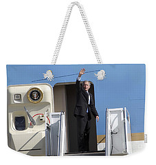 President George Bush Waves Good-bye Weekender Tote Bag