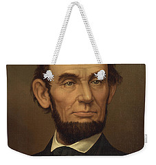 Weekender Tote Bag featuring the photograph President Of The United States Of America - Abraham Lincoln  by International  Images
