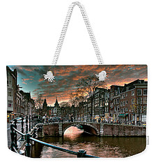 Prinsengracht And Reguliersgracht. Amsterdam Weekender Tote Bag