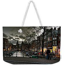 Prinsengracht And Spiegelgracht. Amsterdam Weekender Tote Bag