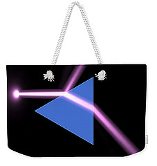 Weekender Tote Bag featuring the digital art Prism 3 by Russell Kightley