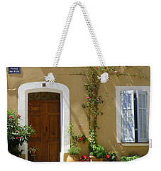 Weekender Tote Bag featuring the photograph Provence Door 3 by Lainie Wrightson