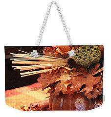 Pumpkin Leaf Decor Weekender Tote Bag