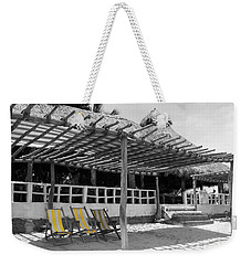Weekender Tote Bag featuring the photograph Punta Mita North Of Puerto Vallarta Mexico Three Amigos Color Splash Black And White by Shawn O'Brien