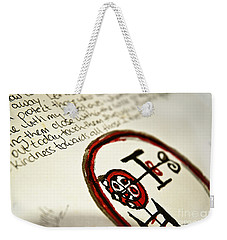 Weekender Tote Bag featuring the photograph Pure Buer by Vicki Ferrari