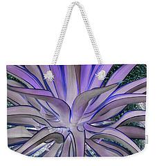 Purple Aloe Weekender Tote Bag
