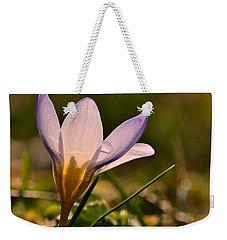 Purple Crocus Weekender Tote Bag