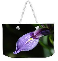 Japanese Iris Petal Weekender Tote Bag