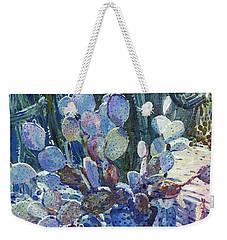 Purple Opuntia Weekender Tote Bag