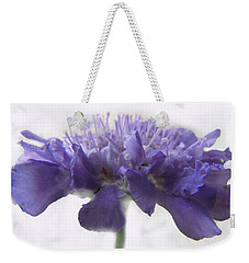 Weekender Tote Bag featuring the photograph Purple Pincushin by Debbie Portwood