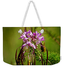 Weekender Tote Bag featuring the photograph Purple Pizzazz by Vicki Pelham