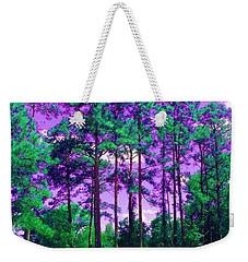 Weekender Tote Bag featuring the photograph Purple Sky by George Pedro