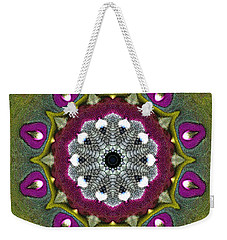 Purple Snakeskin Flower Weekender Tote Bag by Alec Drake