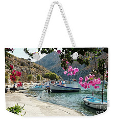 Weekender Tote Bag featuring the photograph Quiet Cove by Therese Alcorn