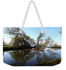 Quiet Reflection Weekender Tote Bag by Davandra Cribbie