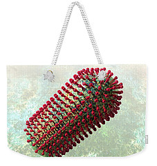 Rabies Virus 2 Weekender Tote Bag by Russell Kightley