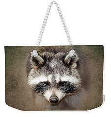 Raccoon 2 Weekender Tote Bag by Betty LaRue