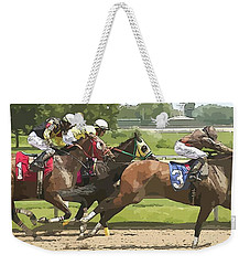 Weekender Tote Bag featuring the photograph Racetrack Views by Alice Gipson