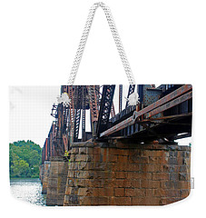Weekender Tote Bag featuring the photograph Railroad Bridge 2 by Kay Lovingood