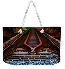 Railway Track Leading To Where Weekender Tote Bag