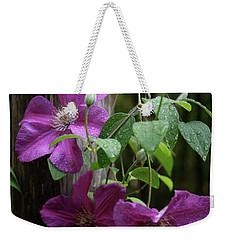 Rain Kissed Clematis  Weekender Tote Bag